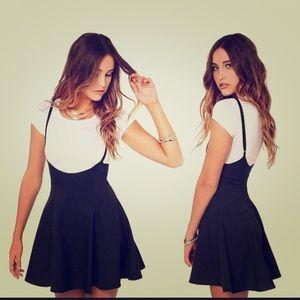 Dresses & Skirts - Black Skater Skirt with Straps 🖤✨🐼